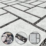 Paving slab pebble gravel 3d model