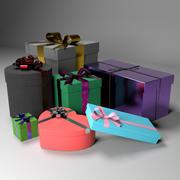 クリスマスギフトボックスセット 3d model