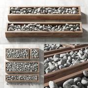Caja de piedra de guijarros n3 modelo 3d