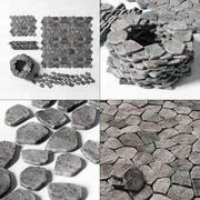 Stenläggning av gammal sten sten 3d model