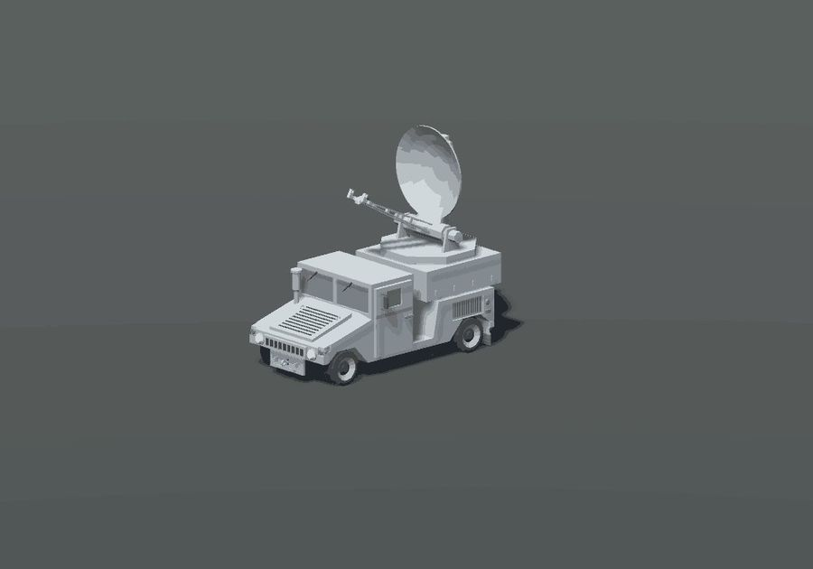 HUMVEE Military Vehicle Hummer Pack royalty-free 3d model - Preview no. 9