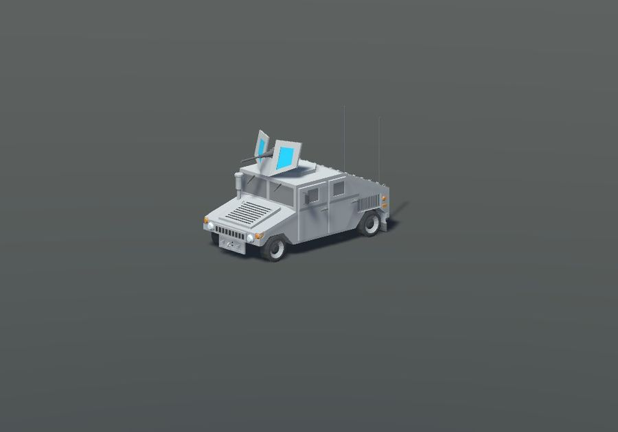 HUMVEE Military Vehicle Hummer Pack royalty-free 3d model - Preview no. 5
