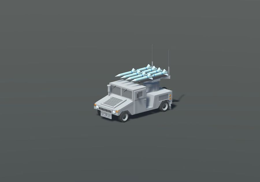 HUMVEE Military Vehicle Hummer Pack royalty-free 3d model - Preview no. 8
