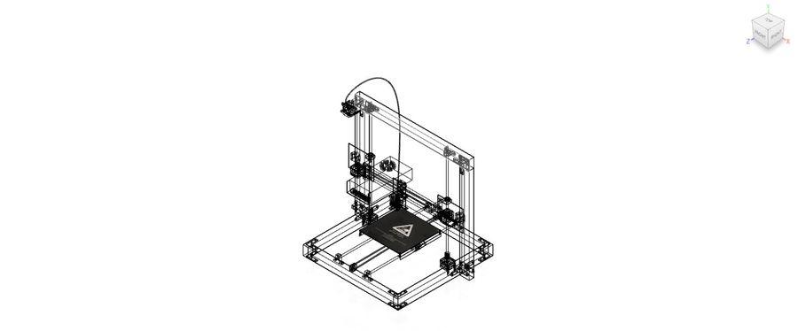 drukarka royalty-free 3d model - Preview no. 6