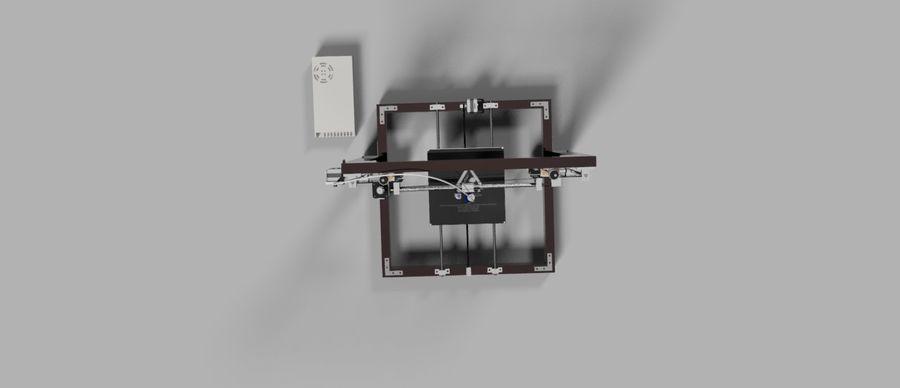 drukarka royalty-free 3d model - Preview no. 4
