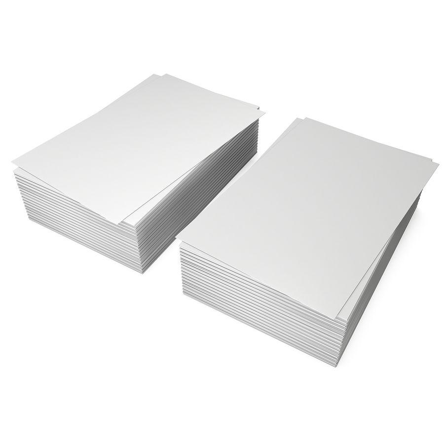 Stos pustych wizytówek royalty-free 3d model - Preview no. 2