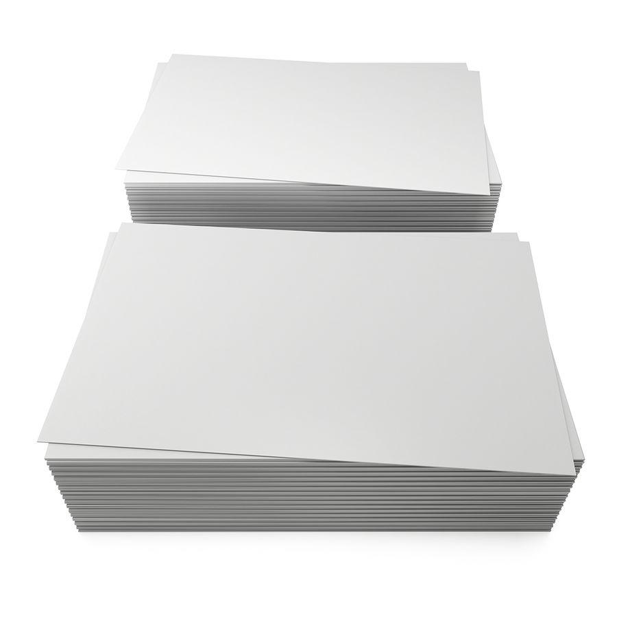 Stos pustych wizytówek royalty-free 3d model - Preview no. 1