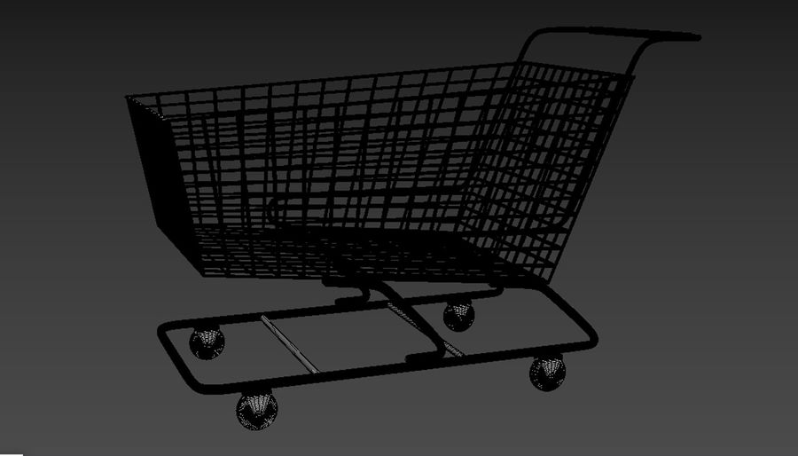 Shopping Cart royalty-free 3d model - Preview no. 8