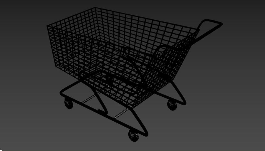 Shopping Cart royalty-free 3d model - Preview no. 7