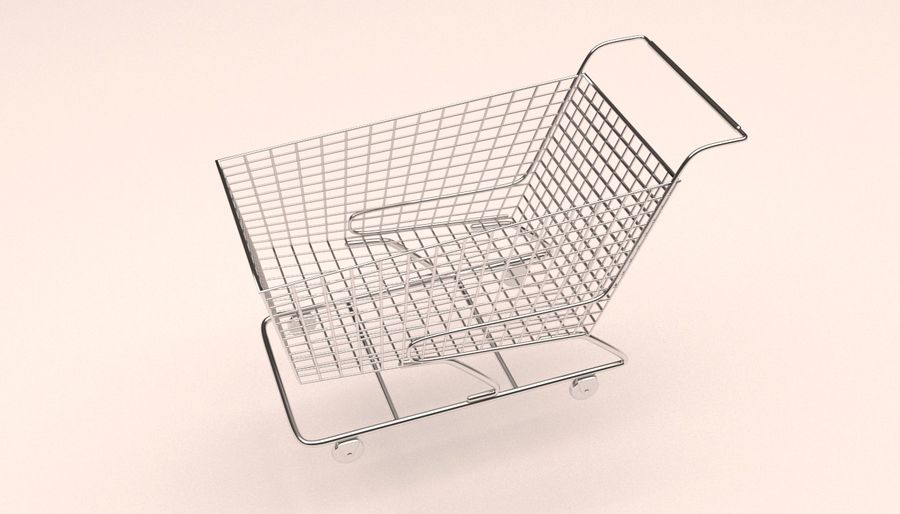 Shopping Cart royalty-free 3d model - Preview no. 2