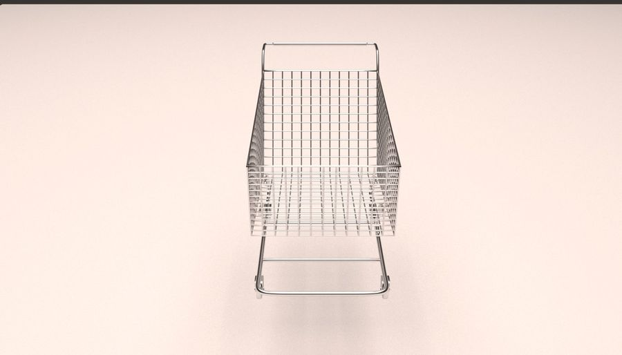 Shopping Cart royalty-free 3d model - Preview no. 5