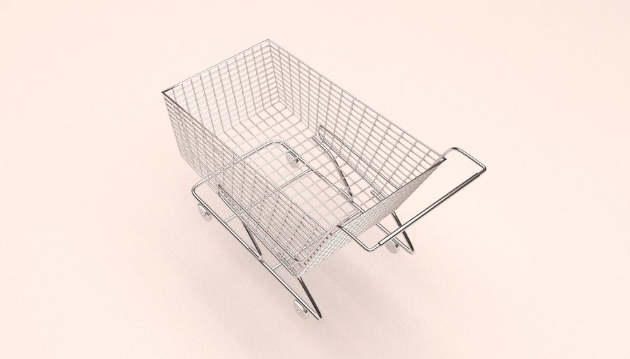 Shopping Cart royalty-free 3d model - Preview no. 3