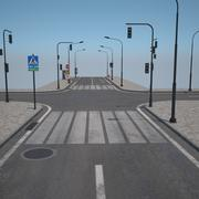 Road and Pavement 3d model