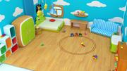 漫画少年の部屋-低ポリ3Dモデル低ポリ3Dモデル 3d model