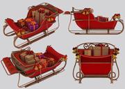 雪橇 3d model