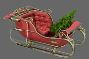 クリスマスそり低ポリ3Dモデル 3d model