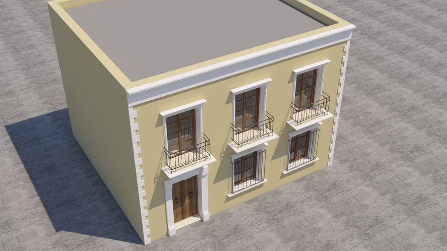 Mexikanska hus stad royalty-free 3d model - Preview no. 6