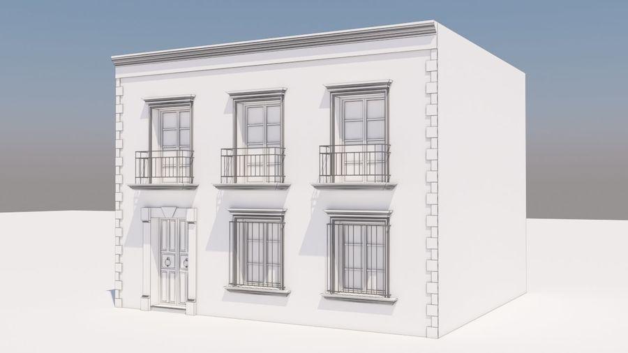 Mexikanska hus stad royalty-free 3d model - Preview no. 9