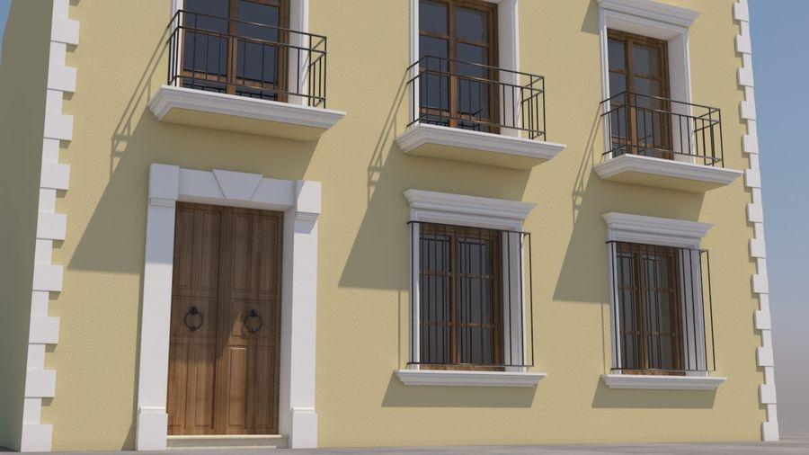 Mexikanska hus stad royalty-free 3d model - Preview no. 3