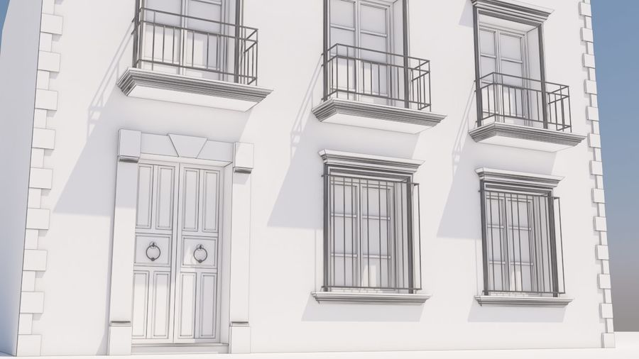 Mexikanska hus stad royalty-free 3d model - Preview no. 10