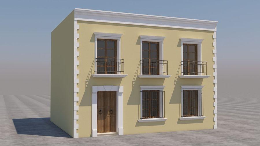 Mexikanska hus stad royalty-free 3d model - Preview no. 1