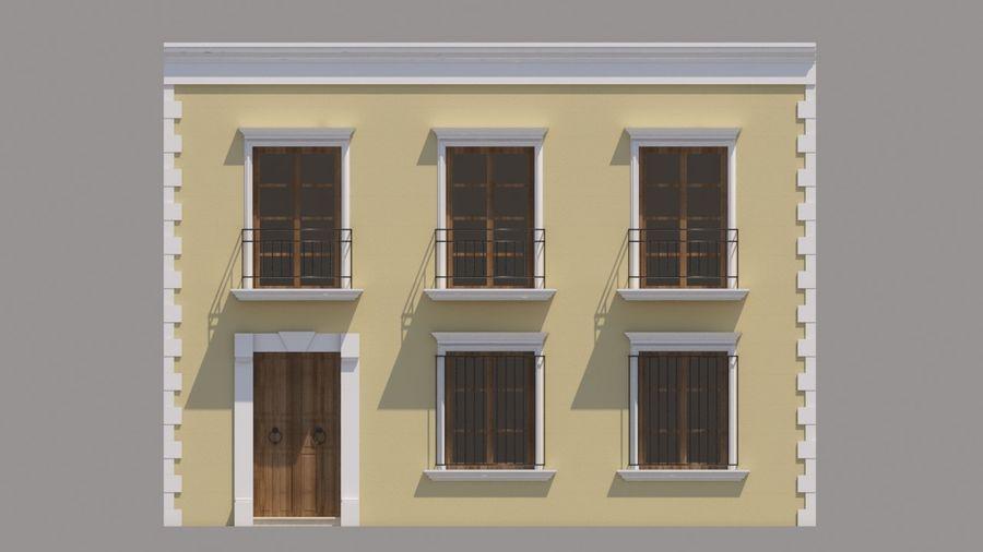 Mexikanska hus stad royalty-free 3d model - Preview no. 7
