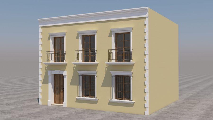 Mexikanska hus stad royalty-free 3d model - Preview no. 2