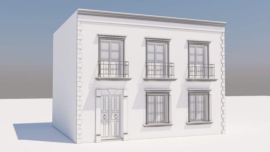 Mexikanska hus stad royalty-free 3d model - Preview no. 8