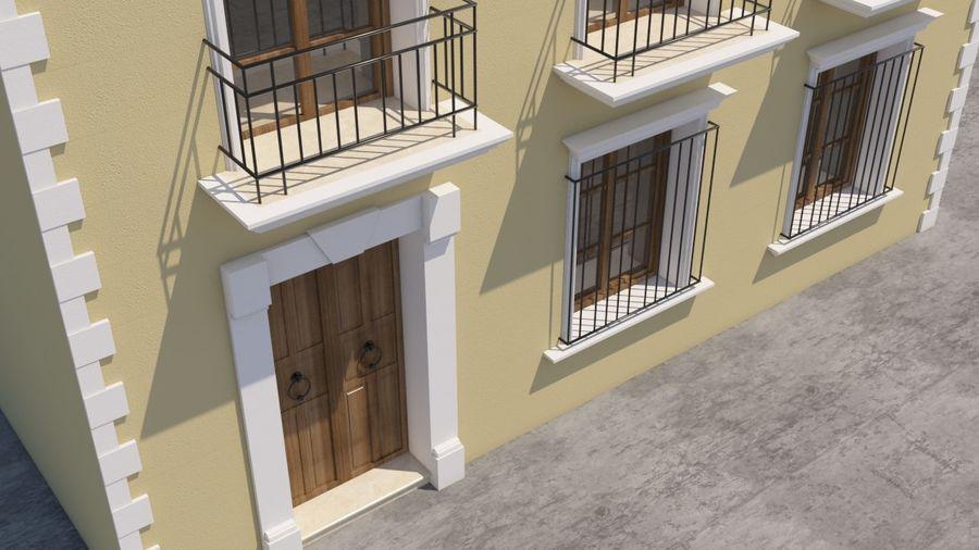 Mexikanska hus stad royalty-free 3d model - Preview no. 4