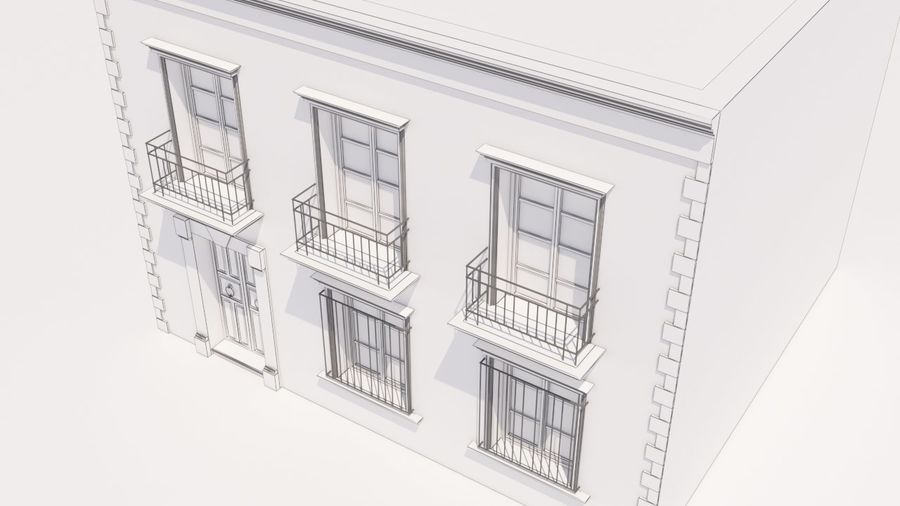 Mexikanska hus stad royalty-free 3d model - Preview no. 11