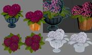 flowers in a flowerpot 3d model