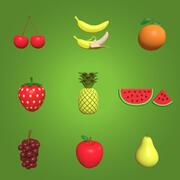 Cartoon Fruit Collection 3d model