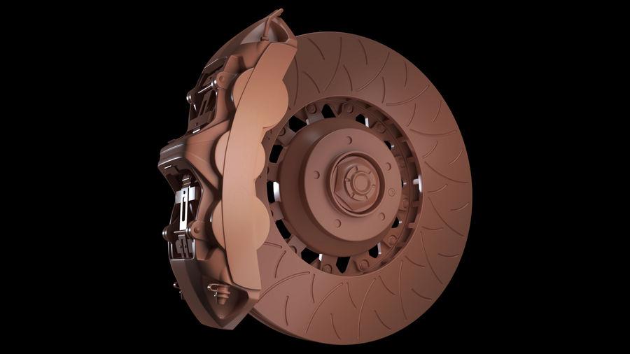 Brembo Disc Brake royalty-free 3d model - Preview no. 9