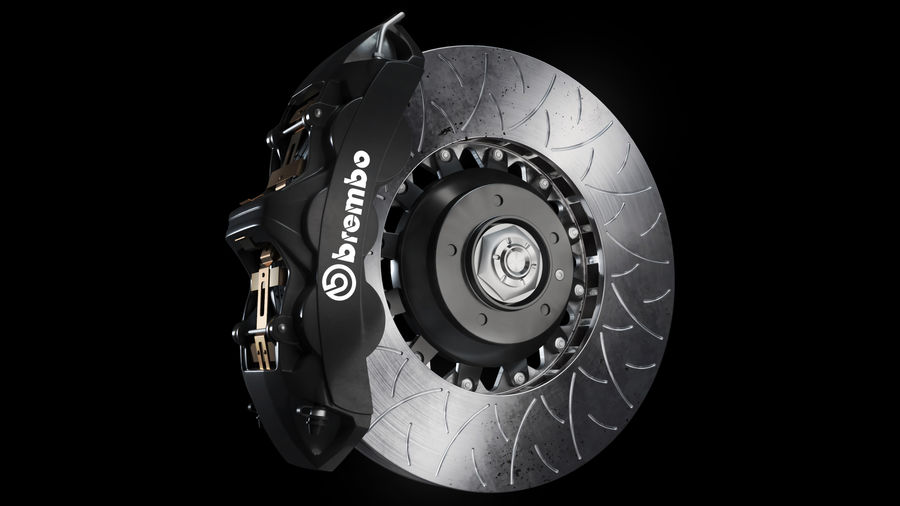Brembo Disc Brake royalty-free 3d model - Preview no. 11
