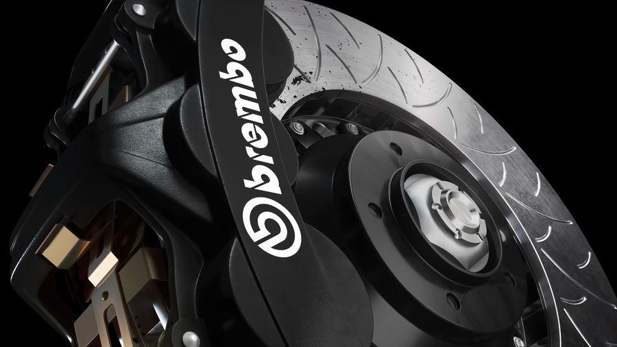 Brembo Disc Brake royalty-free 3d model - Preview no. 12