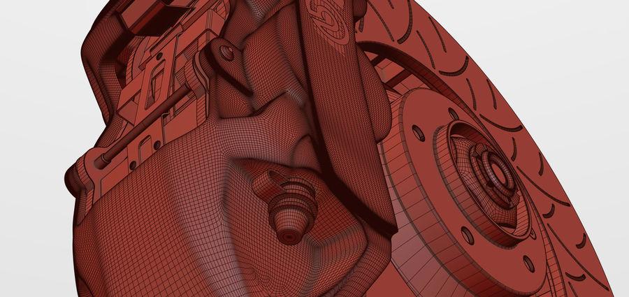 Brembo Disc Brake royalty-free 3d model - Preview no. 7