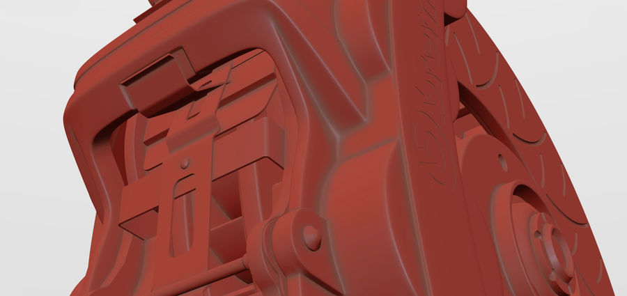 Brembo Disc Brake royalty-free 3d model - Preview no. 4