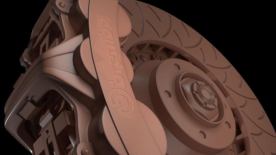 Brembo Disc Brake royalty-free 3d model - Preview no. 10
