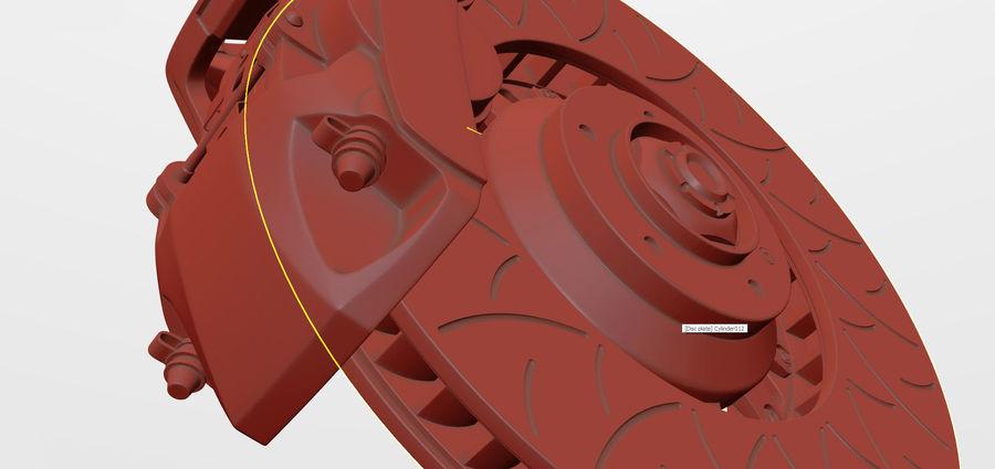 Brembo Disc Brake royalty-free 3d model - Preview no. 3