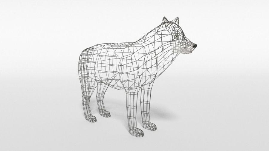 Pakiet zwierząt leśnych Low Poly royalty-free 3d model - Preview no. 17