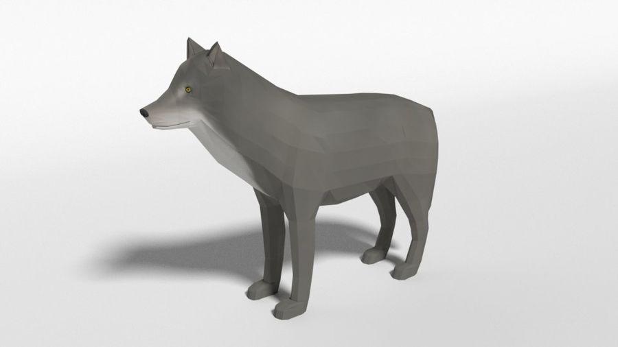 Pakiet zwierząt leśnych Low Poly royalty-free 3d model - Preview no. 13