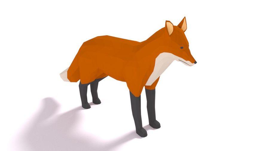 Pakiet zwierząt leśnych Low Poly royalty-free 3d model - Preview no. 10