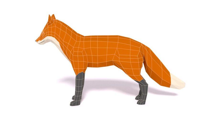 Pakiet zwierząt leśnych Low Poly royalty-free 3d model - Preview no. 11