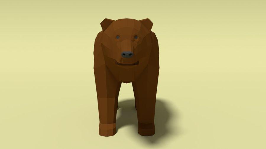 Pakiet zwierząt leśnych Low Poly royalty-free 3d model - Preview no. 4
