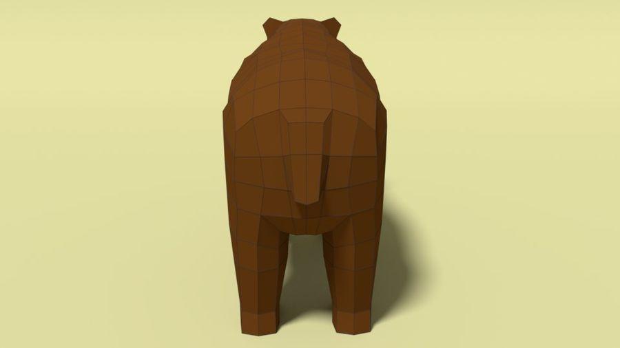 Pakiet zwierząt leśnych Low Poly royalty-free 3d model - Preview no. 5