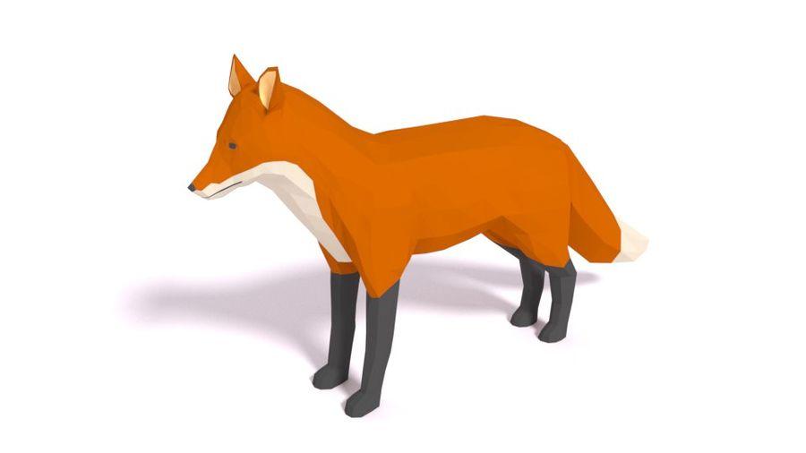 Pakiet zwierząt leśnych Low Poly royalty-free 3d model - Preview no. 8