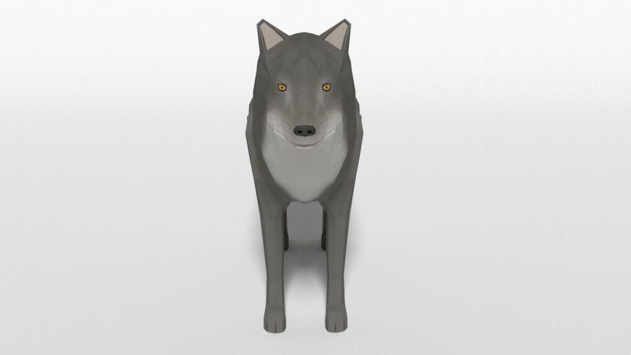 Pakiet zwierząt leśnych Low Poly royalty-free 3d model - Preview no. 15