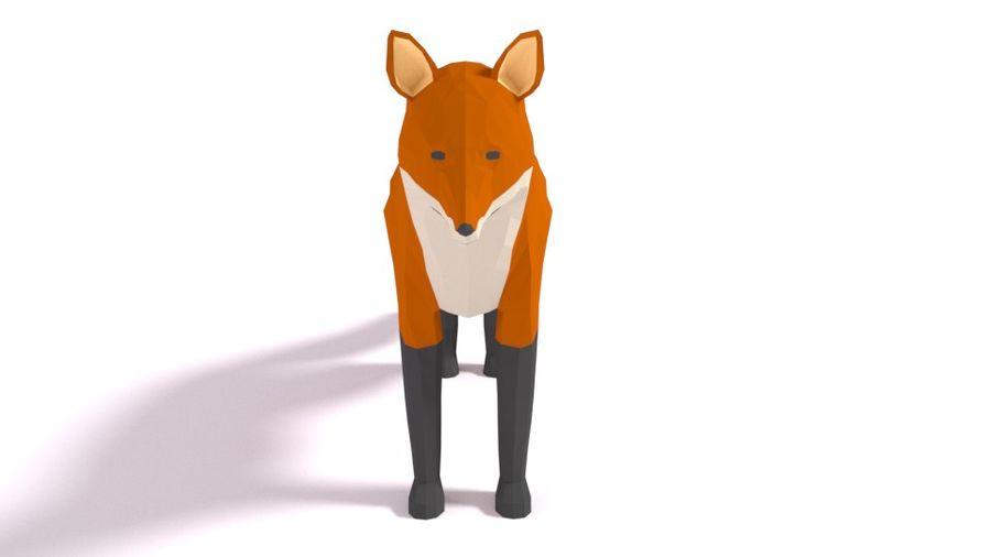 Pakiet zwierząt leśnych Low Poly royalty-free 3d model - Preview no. 9
