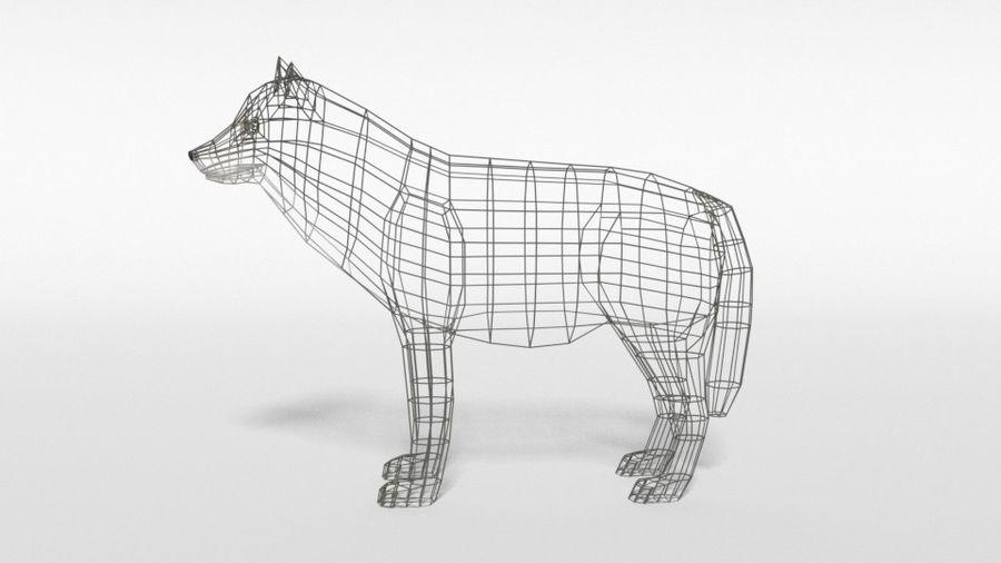 Pakiet zwierząt leśnych Low Poly royalty-free 3d model - Preview no. 16