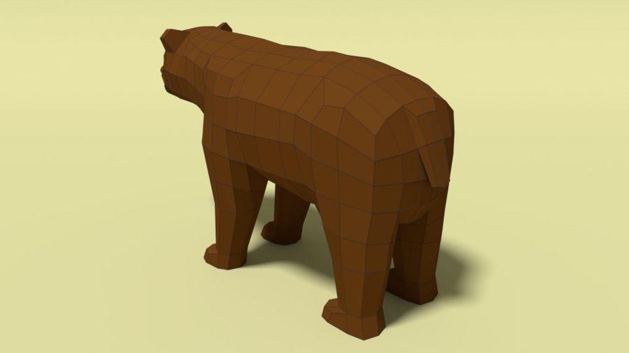 Pakiet zwierząt leśnych Low Poly royalty-free 3d model - Preview no. 6